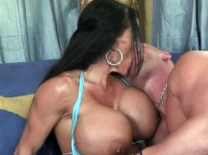 Shaved pussy milf