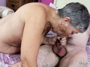 Grey haired granny porn
