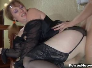 Fucking mom in the ass