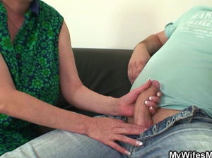 Mom catches daughter fucking