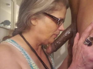 Amature granny interracial
