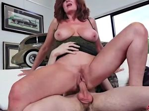 Mom and son making love