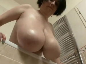 Mom taking shower
